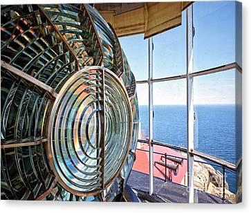 Inside The Lighthouse Canvas Print by Edward Fielding