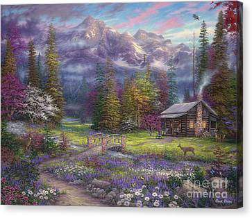 Inspiration Of Spring Meadows Canvas Print by Chuck Pinson