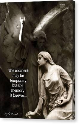 Inspirational Angel Art Ethereal Spiritual Angel Art - Mourning Angel Inspirational Art Canvas Print by Kathy Fornal