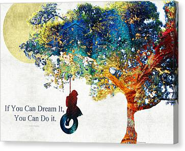 Inspirational Art - You Can Do It - Sharon Cummings Canvas Print by Sharon Cummings