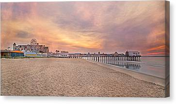 Inspirational Theater Old Orchard Beach  Canvas Print by Betsy C Knapp