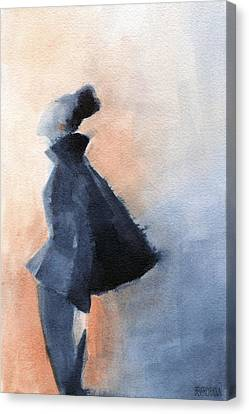 Inspired By Balenciaga Fashion Illustration Art Print Canvas Print by Beverly Brown Prints