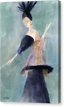Inspired By Paul Poiret Fashion Illustration Art Print Canvas Print by Beverly Brown Prints