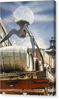 Installation At Distillery Canvas Print by Gaetano Caldarola