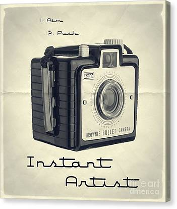 Instant Artist Canvas Print by Edward Fielding
