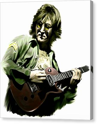 Instant Karma  John Lennon Canvas Print by Iconic Images Art Gallery David Pucciarelli