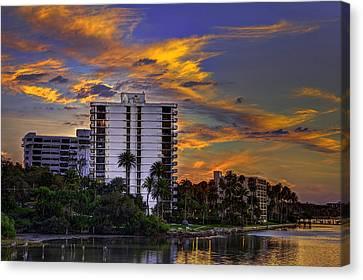 Intercoastal Sky Canvas Print by Marvin Spates