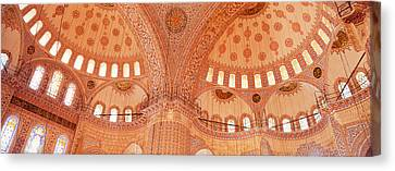 Interior, Blue Mosque, Istanbul, Turkey Canvas Print by Panoramic Images