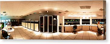 Interior Computer Room Canvas Print by Panoramic Images