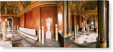 Interior Louvre Museum Greco Roman Room Canvas Print by Panoramic Images