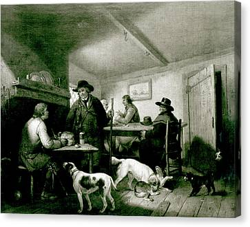 Interior Of A Country Inn Canvas Print by George Morland