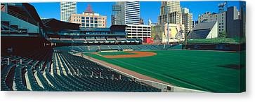 Interior Of Autozone Baseball Park Canvas Print by Panoramic Images