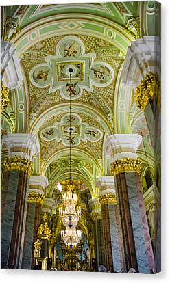 Interior Of Cathedral Of Saints Peter And Paul - St. Petersburg  Russia Canvas Print by Jon Berghoff