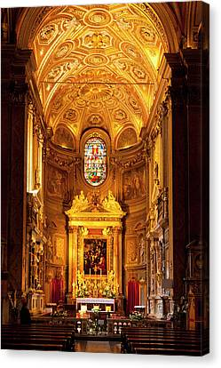 Interior Of Chiesa Santa Maria Dell Canvas Print by Brian Jannsen