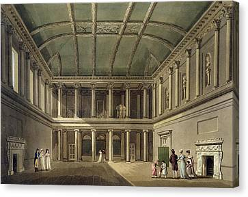 Interior Of Concert Room, From Bath Canvas Print by John Claude Nattes