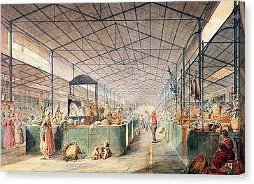 Interior Of Les Halles Canvas Print by Max Berthelin