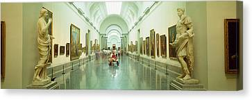 Interior Of Prado Museum, Madrid, Spain Canvas Print by Panoramic Images