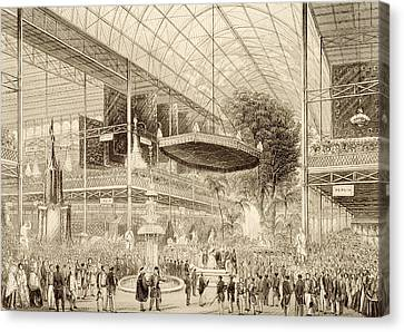 Interior Of The Great Exhibition, Grand Canvas Print by English School