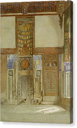 Interior Of The House Of The Mufti Canvas Print by Frank Dillon