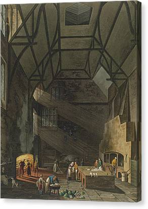 Interior Of The Kitchen, Trinity Canvas Print by William Henry Pyne