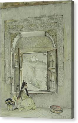 Interior Of The Palace At Madura Canvas Print by Thomas Daniell
