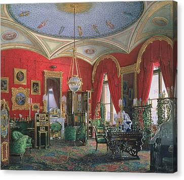 Interior Of The Winter Palace Wc On Paper Canvas Print by Eduard Hau