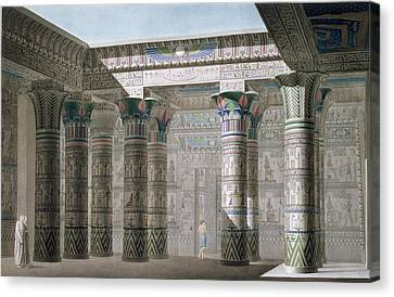 Grand Temple On The Island Of Philae Canvas Print by Antoine Phelippeaux