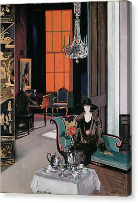 Interior - The Orange Blind, C.1928 Canvas Print by Francis Campbell Boileau Cadell