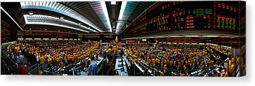 Interiors Of A Financial Office Canvas Print by Panoramic Images