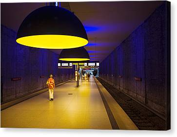 Interiors Of An Underground Station Canvas Print by Panoramic Images
