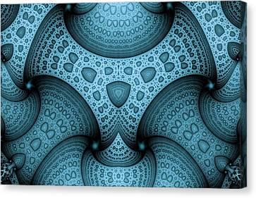 Interlocking Patterns Canvas Print by Mark Eggleston