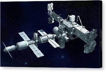 International Space Station Canvas Print by Claus Lunau