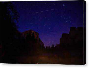 International Space Station Over Yosemite National Park Canvas Print by Scott McGuire