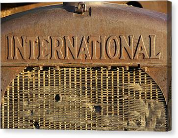 International Truck Emblem Canvas Print by Mike McGlothlen