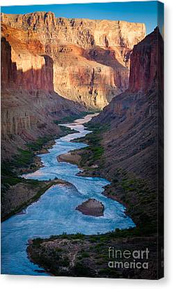 Into The Canyon Canvas Print by Inge Johnsson