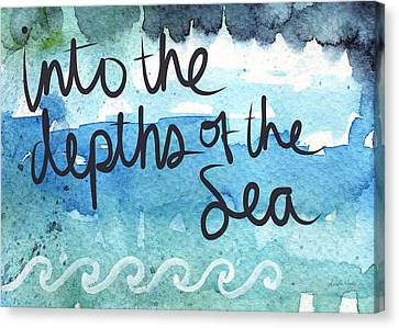 Into The Depths Of The Sea Canvas Print by Linda Woods
