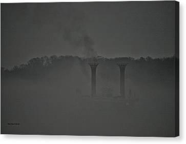Into The Fog Canvas Print by Ron  Burt