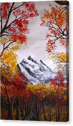 Into The Mountains Canvas Print by Erik Coryell