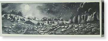 Into The Night Canvas Print by Jeanne Ward