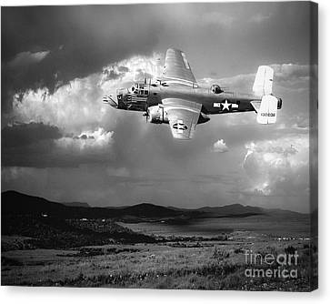 Into The Storm Canvas Print by Arne Hansen