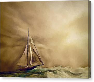 Into The Storm Canvas Print by Lonnie Christopher