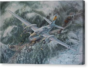 Into The Valley Of Death Canvas Print by Randy Green