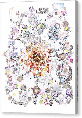 Intracellular Diversion Canvas Print by Regina Valluzzi