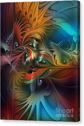 Intricate Life Paths-abstract Art Canvas Print by Karin Kuhlmann