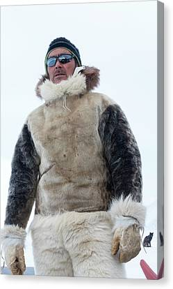 Inuit Hunter Canvas Print by Louise Murray
