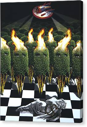 Invasion Of The Alien Bushes Canvas Print by Larry Butterworth