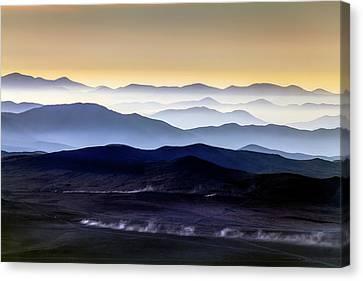 Inversion Layers In The Atacama Desert Canvas Print by Babak Tafreshi
