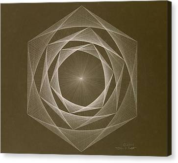 Inverted Energy Spiral Canvas Print by Jason Padgett