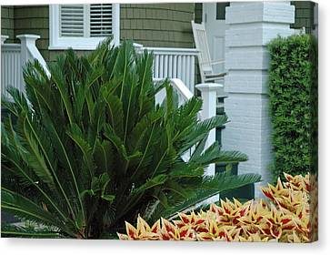 Inviting Front Porch Canvas Print by Bruce Gourley