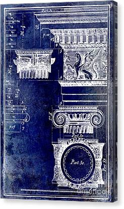 Ionic Capitol Blue Canvas Print by Jon Neidert